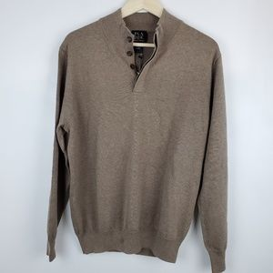 JOS.A.BANK MEN'S SWEATER OATMEAL COLOR PULLOVER.